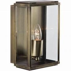 8204ab box outdoor wall porch light 1 lightantique brass rectangle box