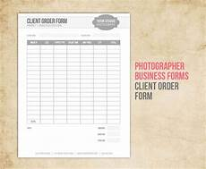 photography business forms client order form for photographers business document form