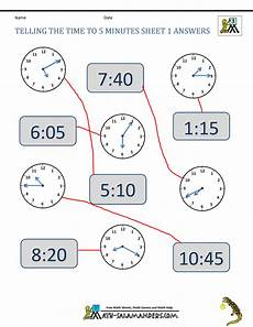 time worksheets grade 1 3005 telling time clock worksheets to 5 minutes