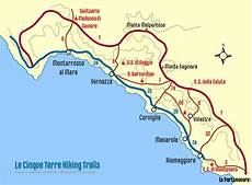 Cinque Terre Karte - cinque terre trail map walking the trails wandering italy