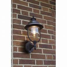 konstsmide 7239 000 parma single light upwards style outdoor wall lantern in black and stainless