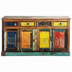 maison du monde credenza multicoloured recycled wood sideboard w 165 maisons du