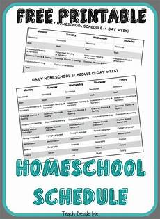 printable homeschool schedule homeschooling homeschool homeschool kindergarten