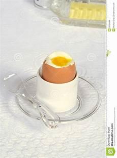 Weiche Gekochtes Ei Im Halter Stockfoto Bild Hart