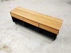 design sideboard lowboard auf rollen mit schubladen aus