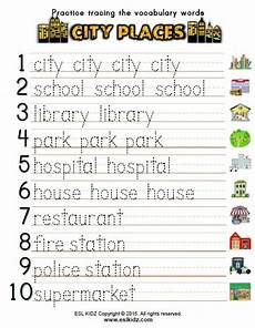 places in town writing worksheets 16040 city places classroom center bundle classroom centers vocabulary words vocabulary word worksheet
