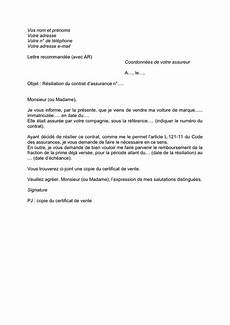 resiliation assurance auto vente luxury modele lettre vente voiture en l etat