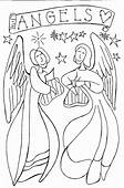 Free Angel Coloring Pages  Letscoloringpagescom Two