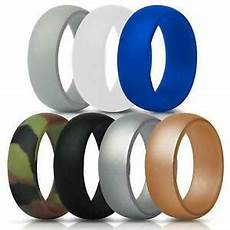 silicone wedding ring 7 rubber bands for men 8 7 mm wide 2 5mm thick ebay