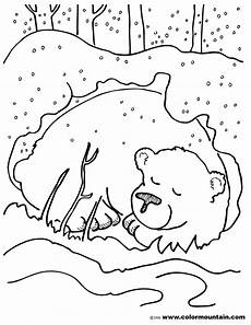 winter animals coloring pages for preschool 17197 hibernating color sheet coloring page preschool january color sheets