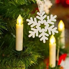 candele led a batteria set 10 candeline per albero con clip led bianco caldo