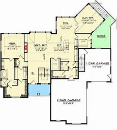 ranch style house plans with walkout basement craftsman ranch with walkout basement craftsman style