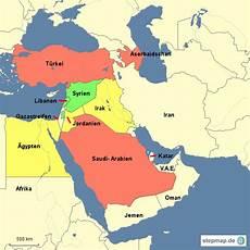 Naher Osten Locke Landkarte F 252 R Asien