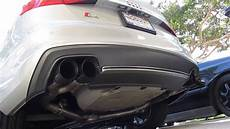 audi b8 5 s4 awe track edition exhaust stock downpipes youtube