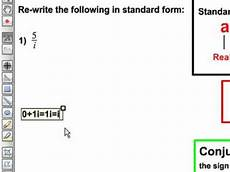 convert complex number into standard form youtube