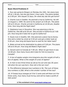 free time word problems worksheets 3423 time related word problem worksheet version 9