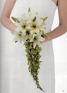 wedding bouquet ideas lilies diy cascading lily orchid wedding bouquet from florist review wedding bouquets