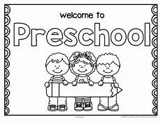 free back to school welcome poster for preschool write child s name in the pencil
