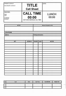 how to make a call sheet the sharpen experiment