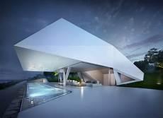 futuristic villa in futuristic sculptural modern mansion overlooking the
