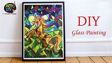 diy easy glass painting how to make glass painting