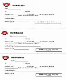 printable rent receipt sle 7 exles in word pdf