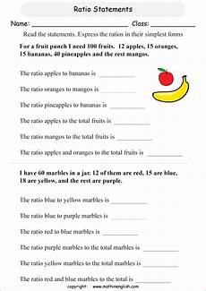 read the clues and ratio statements and answer the questions math class 5 math ratio worksheet