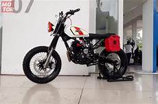 Biaya Modifikasi Scorpio Scrambler by Ganteng Maksimal Modifikasi Yamaha Scorpio Bergaya