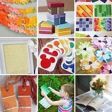 paint sle craft ideas crafts paint chips painting paint chip art