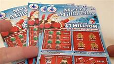 national lottery scratchcards merry millionaire day 1 youtube