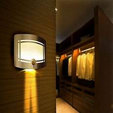motion sensor activated led wall sconce battery operated wireless night light ebay