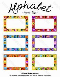 Free Printable Alphabet Name Tags The Template Can Also