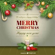 elegant merry christmas card free vector