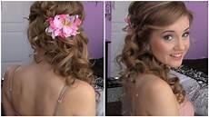 side swept cascading curls easy diy prom hair tutorial