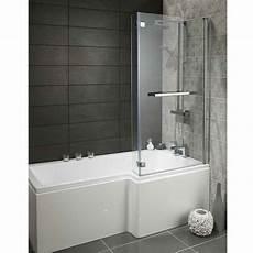 Duschabtrennung Badewanne Glas - heavy duty 1700mm l shaped shower bath with glass