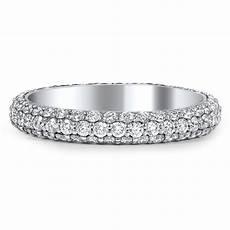 custom three sided pave diamond wedding band brilliant earth