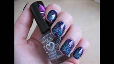 simple and easy galaxy nail art tutorial youtube