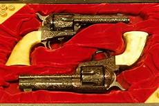 guns made for wayne bygreat western used by the duke in quot the shootist quot guns the quot shootist quot and wayne s engraved gws