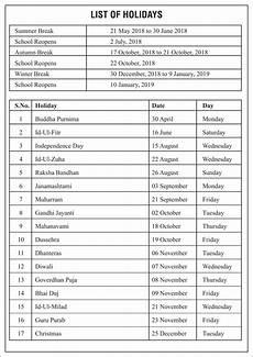 school activity calendar titiksha school