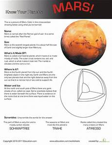 mars planet worksheet your planets mars space science earth space