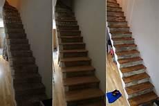 Habillage Escalier Droit En B 233 Ton Avec Marches En Ch 234 Ne Massif