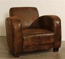 fauteuil club 1930 aspect vieux cuir 3190
