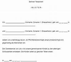 Berliner Testament Muster Pdf Viewer Universitylivin