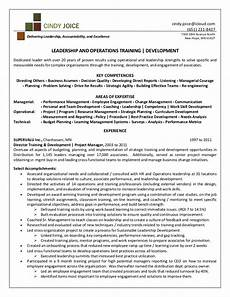 joice resume for director of training and development