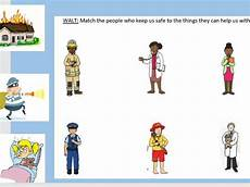 pshe worksheets who help us 15904 matching activity real superheroes and keeping safe key stage 1 pshe teaching resources