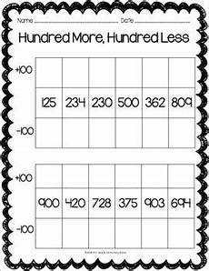 place value worksheets task cards 2nd grade by