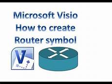 microsoft visio how to create router symbol youtube