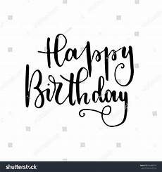 quot happy birthday quot lettering greeting card
