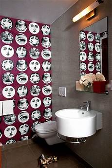 funky bathroom wallpaper ideas and funky powder room contemporary bathroom new york by brito llc