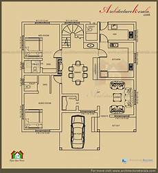 house plan kerala 3 bedrooms 2500 sq ft 3 bedroom house plan with pooja room